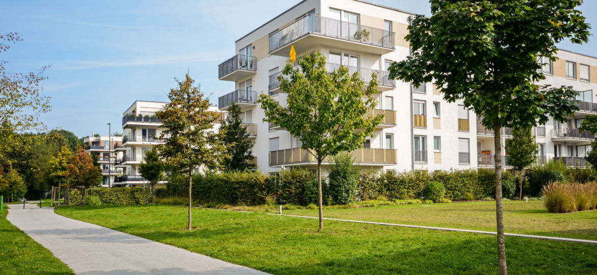 New apartment building - modern residential development